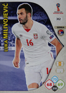 WORLD CUP RUSSIA 2018 TEAM MATE SERBIA MILIVOJEVIĆ 312