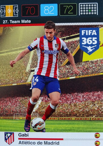2016 FIFA 365 TEAM MATE ATLETICO de MADRID Gabi #27