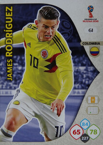 WORLD CUP RUSSIA 2018 KOLUMBIA TEAM RODRIGUEZ 61
