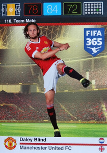 2016 FIFA 365 TEAM MATE MANCHESTER UNITED FC Daley Blind #110