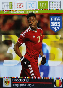 2016 FIFA 365 INTERNATIONAL RISING STAR Divock Origi #352