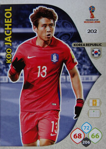 WORLD CUP RUSSIA 2018 TEAM MATE KOREA KOO JACHEOL 202