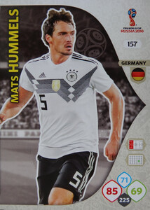 WORLD CUP RUSSIA 2018 TEAM MATE NIEMCY HUMMELS 157