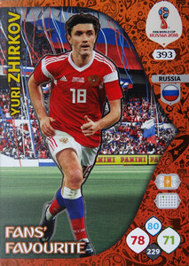 WORLD CUP RUSSIA 2018 FANS FAVOURITE ZHIRKOV 393