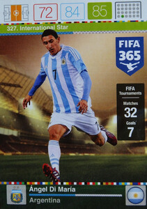 2016 FIFA 365 INTERNATIONAL STAR Ángel Di María #327