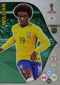 WORLD CUP RUSSIA 2018 BRAZYLIA TEAM WILLIAN 50