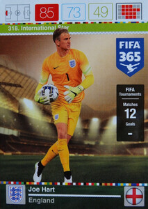 2016 FIFA 365 INTERNATIONAL STAR Joe Hart #318