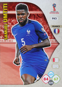 WORLD CUP RUSSIA 2018 TEAM MATE FRANCJA UMTITI 140